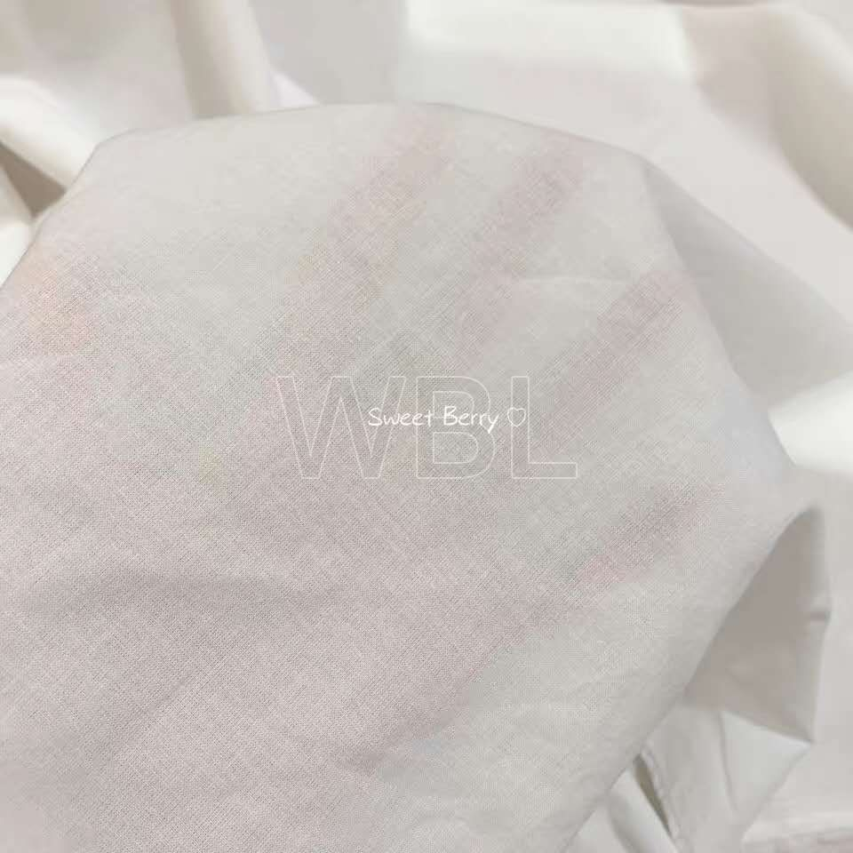 100%cotton pocketing and lining bleached fabric