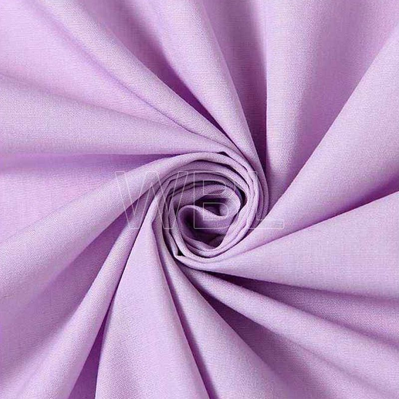 Polyester cotton fabric TC Solid Dyed Woven Shirting Fabric