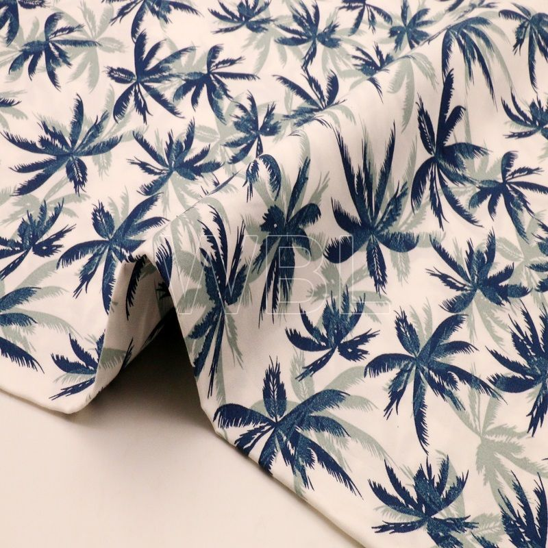 Summer beach vacation in Hawaii 100%cotton fabric shirt and shorts fabric